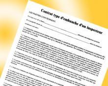 Contrat-type d'inspection préachat